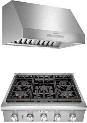 Thermador  1071442 Kitchen Appliance Package Stainless Steel, main image
