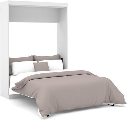 Bestar Furniture Nebula 2518317 Bed White, Wall Bed