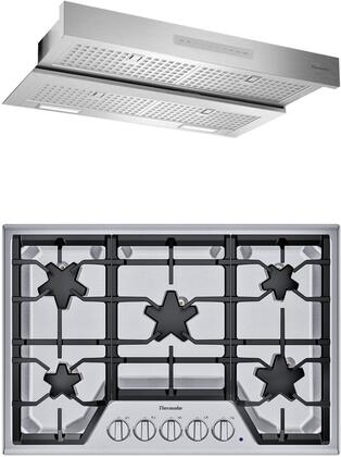 2 Piece Kitchen Appliances Package with SGSX305TS 30″ Gas Cooktop and HMDW30WS 30″ Under Cabinet Insert Hood in Stainless
