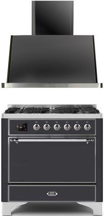 Ilve Majestic II 1271639 Kitchen Appliance Package Graphite, 4