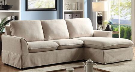 Furniture of America Maxine II CM6379BGSECT Sectional Sofa Beige, Main Image