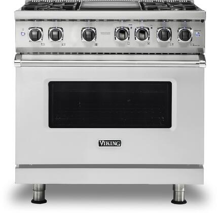 Viking Professional 5 VDR5364GSS Freestanding Dual Fuel Range Stainless Steel, Main Image Front view