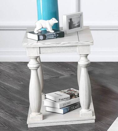 Furniture of America Arlington CM4520E End Table White, Main Image