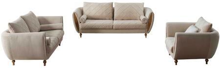 European Furniture Sipario Vita EF22562SLC Living Room Set Beige, Main Image