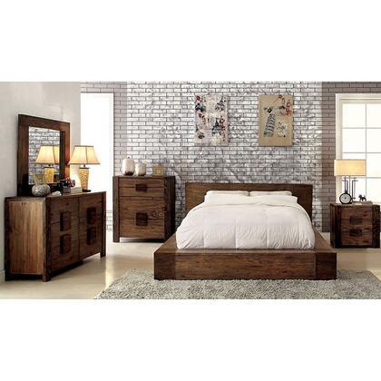 Furniture of America Janeiro CM7628QBDMCN Bedroom Set Brown, Main Image