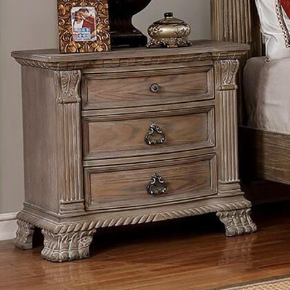 Furniture of America Montgomery CM7800N Nightstand Brown, CM7800N