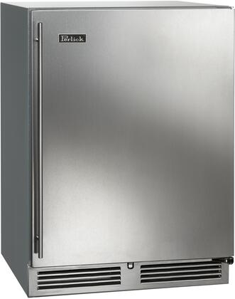 """HC24RO-3-1R 24"""" C-Series Outdoor Undercounter Right Hinge Refrigerator with 144 Can Capacity RAPIDcool Forced-Air 2 Pull Out Shelves and Stainless"""