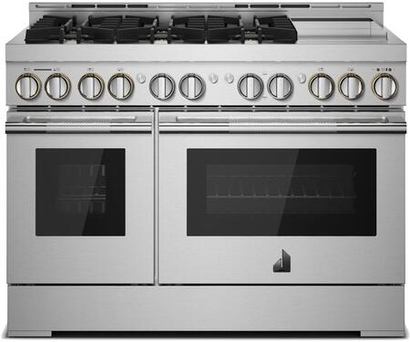 Jenn-Air RISE JGRP548HL Freestanding Gas Range Stainless Steel, JGRP548HL 48-Inch Gas Professional Range with Chrome-Infused Griddle