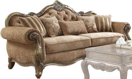 Acme Furniture Ragenardus 56030 Stationary Sofa Brown, 1