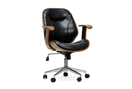 Wholesale Interiors SD22355WALNUTBLACK Office Chair, SD 2235 5%20Walnut