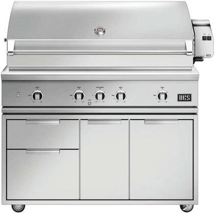 BE1-48RC-N 48″ Series 9 Evolution Freestanding Natural Gas Grill with 4 U-Burners  Infrared Rotisserie  Charcoal Smoker Tray  and Temperature Gauge