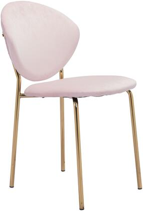 101520 Clyde Chair Pink  (Set of