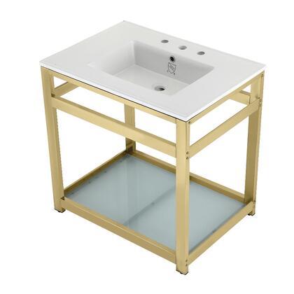 Kingston Brass  VWP3122W8B2 Sink Vanity White, Main Image