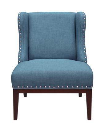 156DS-A293-093-316 Upholstered Wingback Accent Chair in Peacock