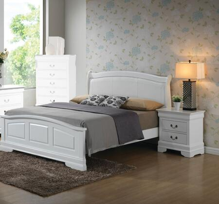 Glory Furniture G3190 G3190CFB2BEDROOMSET Bedroom Set White, Main View