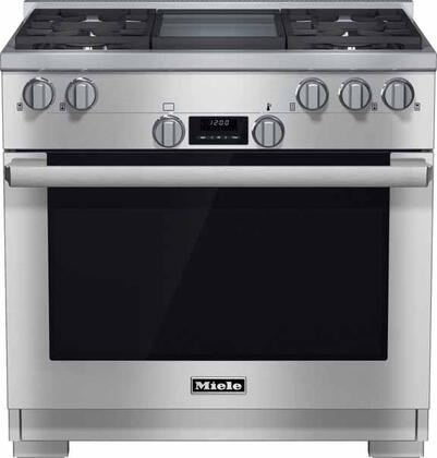 Miele DirectSelect HR1136LPGD Freestanding Gas Range Stainless Steel, Main View