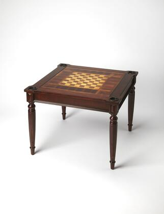Vincent Collection 0837024 Multi-Game Card Table with Transitional Style  Square Shape  Medium Density Fiberboard (MDF) and Poplar Hardwood Solids in