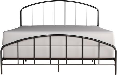 Tolland Collection 2587-500 Metal Queen Bed with Arched Spindle Design and Fully Welded Construction in