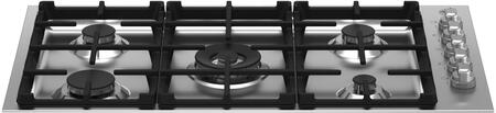 Bertazzoni Master MAST365QXELP Gas Cooktop Stainless Steel, MAST365QXE Gas Drop In Cooktop
