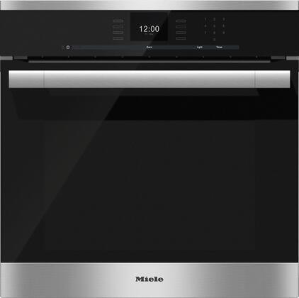 Miele SensorTronic H6560B Single Wall Oven Stainless Steel, Main Image