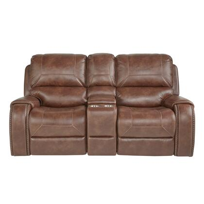 A498-302-654 Glider Recliner Loveseat with Storage and Charging Station in Mesquite