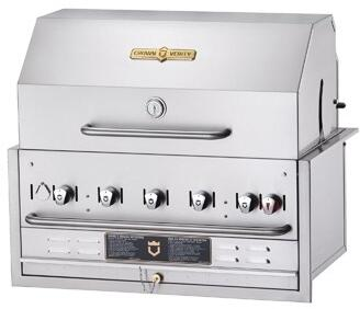 Crown Verity CVBI36PKGNG Commercial Outdoor Grill Stainless Steel, CVBI36PKGNG Side View