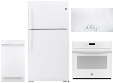 GE  1132424 Kitchen Appliance Package White, Main image