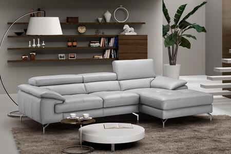 J and M Furniture Liam 18273XHFC Sectional Sofa Gray, 1