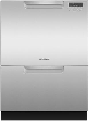 Fisher Paykel DD24DCTX9N Built-In Dishwasher Stainless Steel, Front View