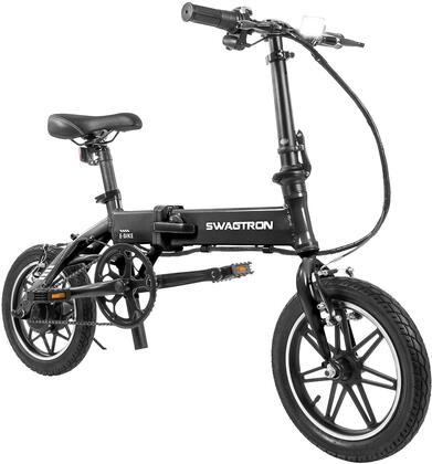 EB5BLK 14″ Folding Electric Bike with 15.5 Mile Range  Height Adjustable and Accommodates Up To 264 lbs. in