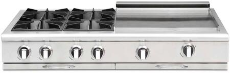 Capital Culinarian CGRT484GGL Gas Cooktop Stainless Steel, Main Image