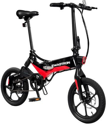 EB7BLK 16″ Folding Electric Bike with 15.5 Mile Range  Height Adjustable and Accommodates Up To 264 lbs. in
