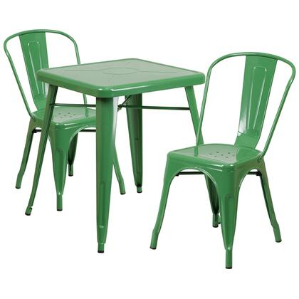 Flash Furniture CH-31330 CH31330230GNGG Outdoor Patio Set Green, CH31330230GNGG set