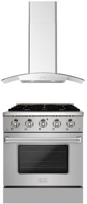 Forte  1458116 Kitchen Appliance Package Stainless Steel, Main image
