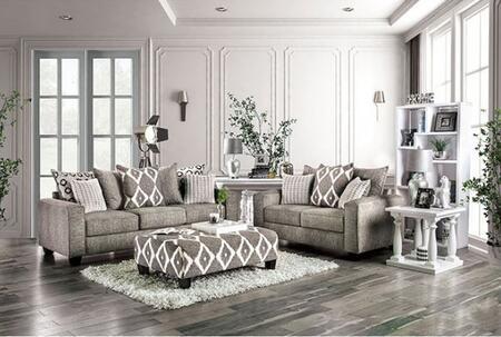 Furniture of America Basie SM5156SFSET Living Room Set Gray, Living Room Set