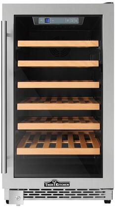 "Thorkitchen HWC2405U 40 Bottles 18"" Built-in Wine Cooler, stainless steel"