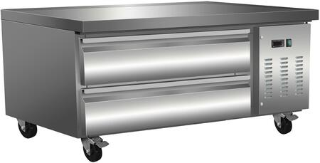 MXCB48 50″ X-Series Chef Base with 6.5 cu. ft. Capacity  Automatic Defrost  5″ Casters and Forced-Air Refrigeration in Stainless