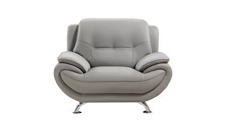 American Eagle Furniture AE208 AE208GRCHR Living Room Chair Gray, Main Image
