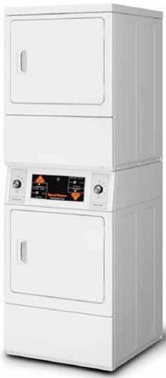 Speed Queen  SSEMNAGS173TW01 Commercial Stacked Dryers White, This is a Stacked Dryer and Dryer Only