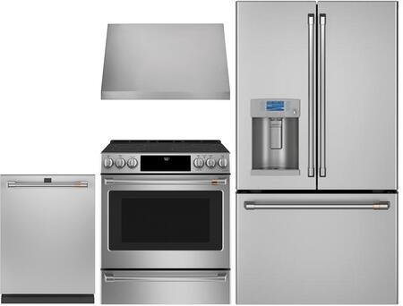 Cafe  1053521 Kitchen Appliance Package Stainless Steel, Main image