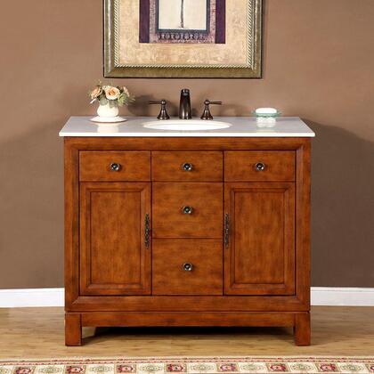 Silkroad Exclusive Frances HYP0911CMUWC42 Sink Vanity Brown, 1