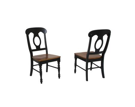 Sunset Trading Sunset Selections DLUC50BCH2 Dining Room Chair Black, DLU C50 BCH 2