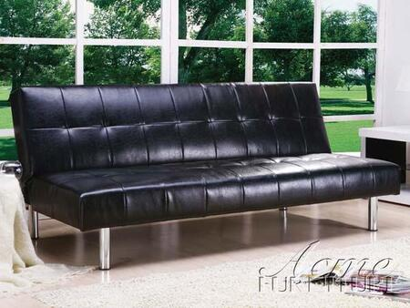 Acme Furniture Ashby 05994 Stationary Sofa Black, Main Image