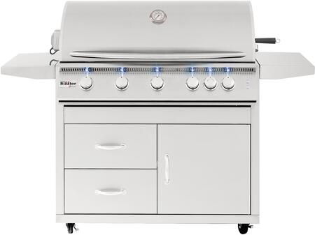 """Pro Series Fully Assembled Door & 2-Drawer Combo Cart for 40"""""""" Sizzler & Sizzler -  Summerset Grills, CARTSIZ40DC"""
