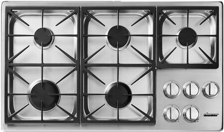 "Dacor Heritage HDCT365GSLP Gas Cooktop Stainless Steel, HDCT365GS/LP 36"" Heritage Series Dual Liquid Propane Gas Cooktop"