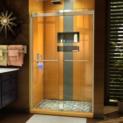 SHDR-6348762-04 Sapphire 44-48″ W x 76″ H Semi-Frameless Bypass Shower Door in Brushed