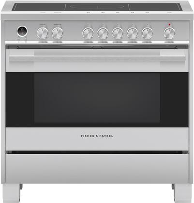 Fisher Paykel Contemporary OR36SDI6X1 Freestanding Electric Range Stainless Steel, Front view