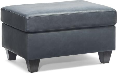 2063-09 SOFT TOUCH SHALE 34″ Ottoman with Leather Upholstery in