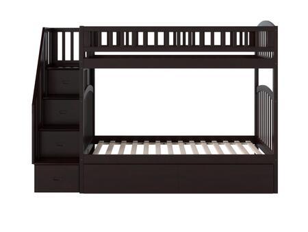 Atlantic Furniture Westbrook AB65641 Bed Brown, AB65641 SILO SK BD1 180
