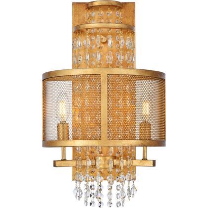 1540W12GI Legacy 2 Light Golden Iron Wall Sconce Clear Royal Cut